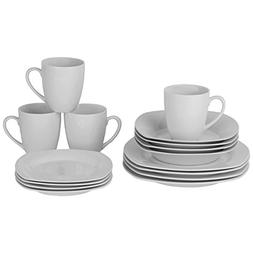 10 Strawberry Street Simply White Square 16-Piece Dinnerware