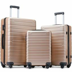 """3 Piece  Luggage Sets Hardside Spinner Light weight  20"""" 24"""""""
