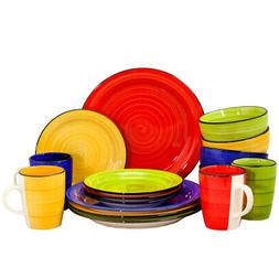 Gibson 95838.16 Home Color Vibes 16 Piece Round Dinnerware S