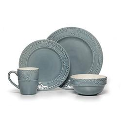 Pfaltzgraff Antigua 16 Piece Dinnerware Set , Blue
