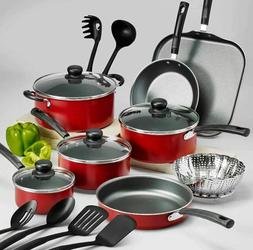 Cookware Set Of Pots And Pans Large Cooking 18-Piece Profess
