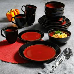 Dinnerware 16 Piece Dining Plates Bowls Cups Tableware Dishe