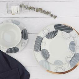 Dinnerware Set, Dishes, Bowls, Service for 6, Spotted
