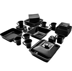 Dinnerware Sets Clearance Dishes Plates For 6 Banquet Black