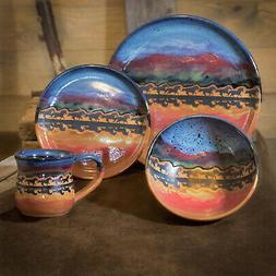 """DINNERWARE SETS - """"GALLOPING HORSES"""" 4-PIECE PLACE SETTING -"""