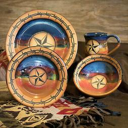 """DINNERWARE SETS - """"WESTERN STAR"""" 4-PIECE PLACE SETTING - WES"""