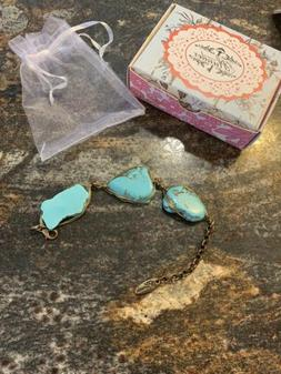 Plunder Jewelry ERNESTINE Natural Turquoise Stones Set In An