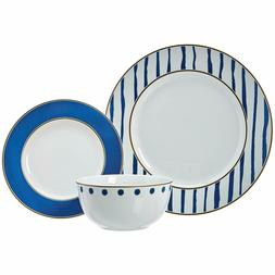 Kitchen Dinnerware Set, Dishes, Bowls, Service for 6, Blue A