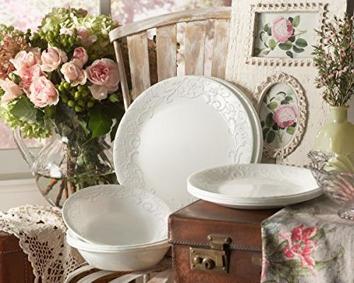 Corelle Embossed 16-Piece Service for