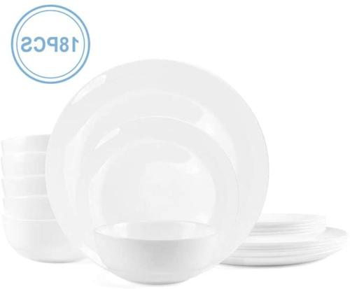Dinnerware Set Danmers 18-piece Opal Dishes Sets Service for