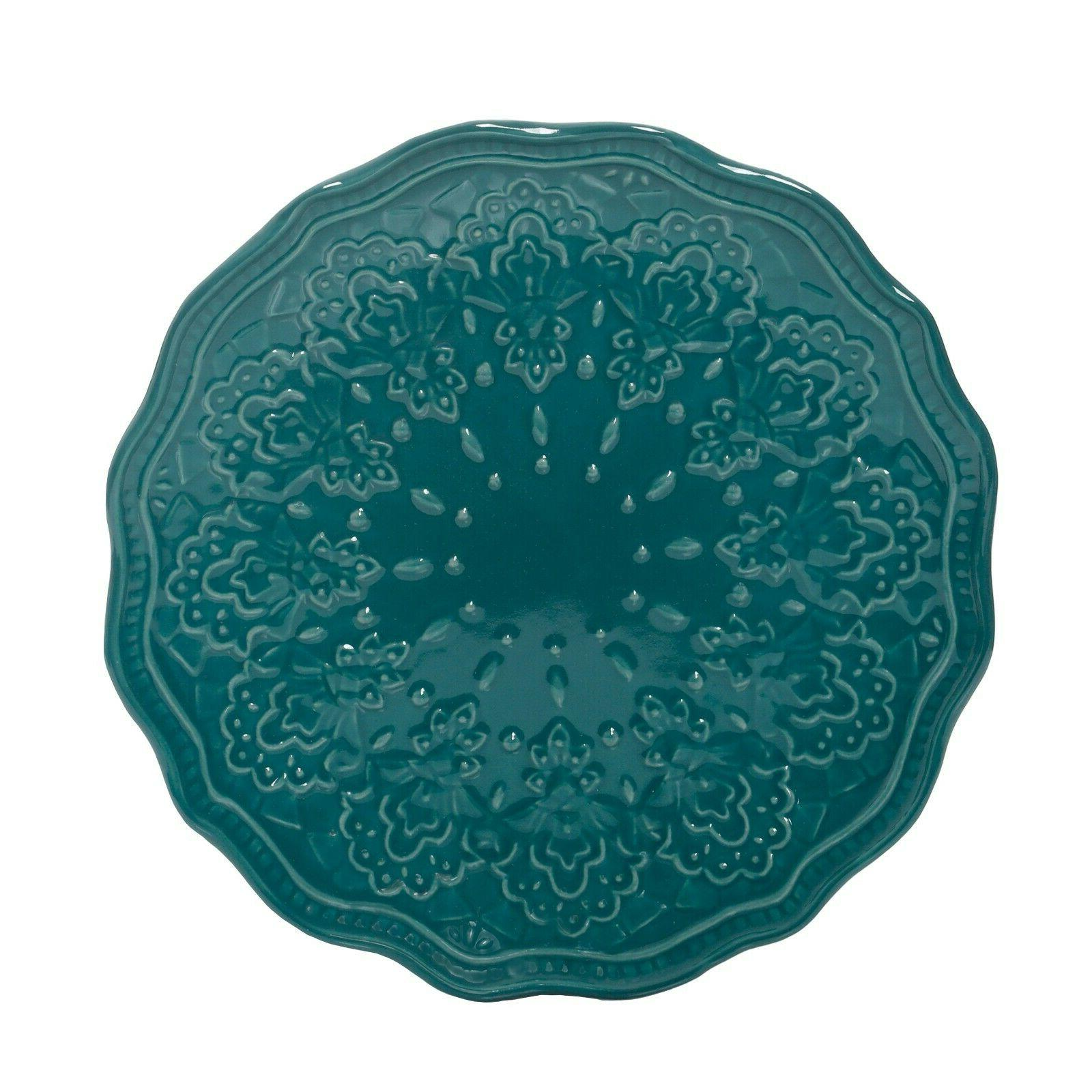 The Pioneer Woman Farmhouse Lace Dinnerware Teal