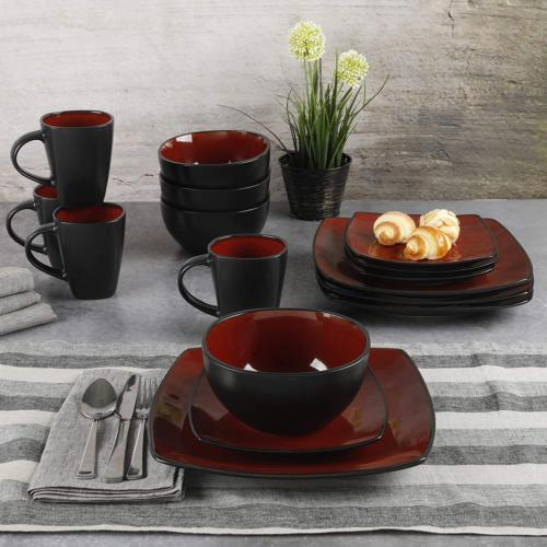 Gibson Square Glaze Set, Red