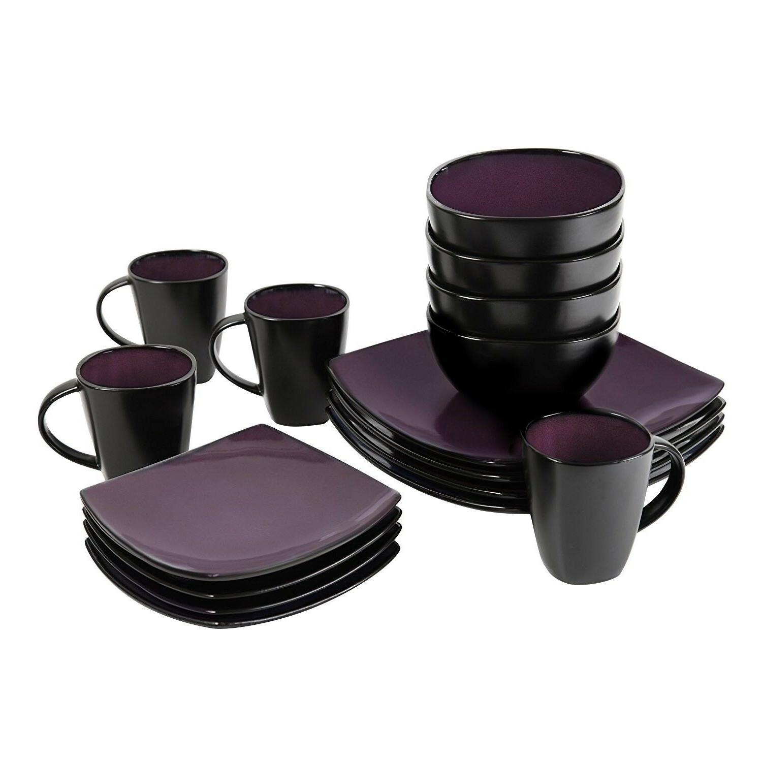 Soho Lounge 16-Piece Reactive Glaze Glass