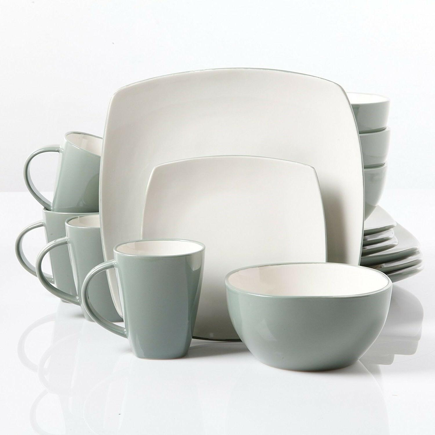 Soho Lounge Reactive Glaze Dinnerware Glass