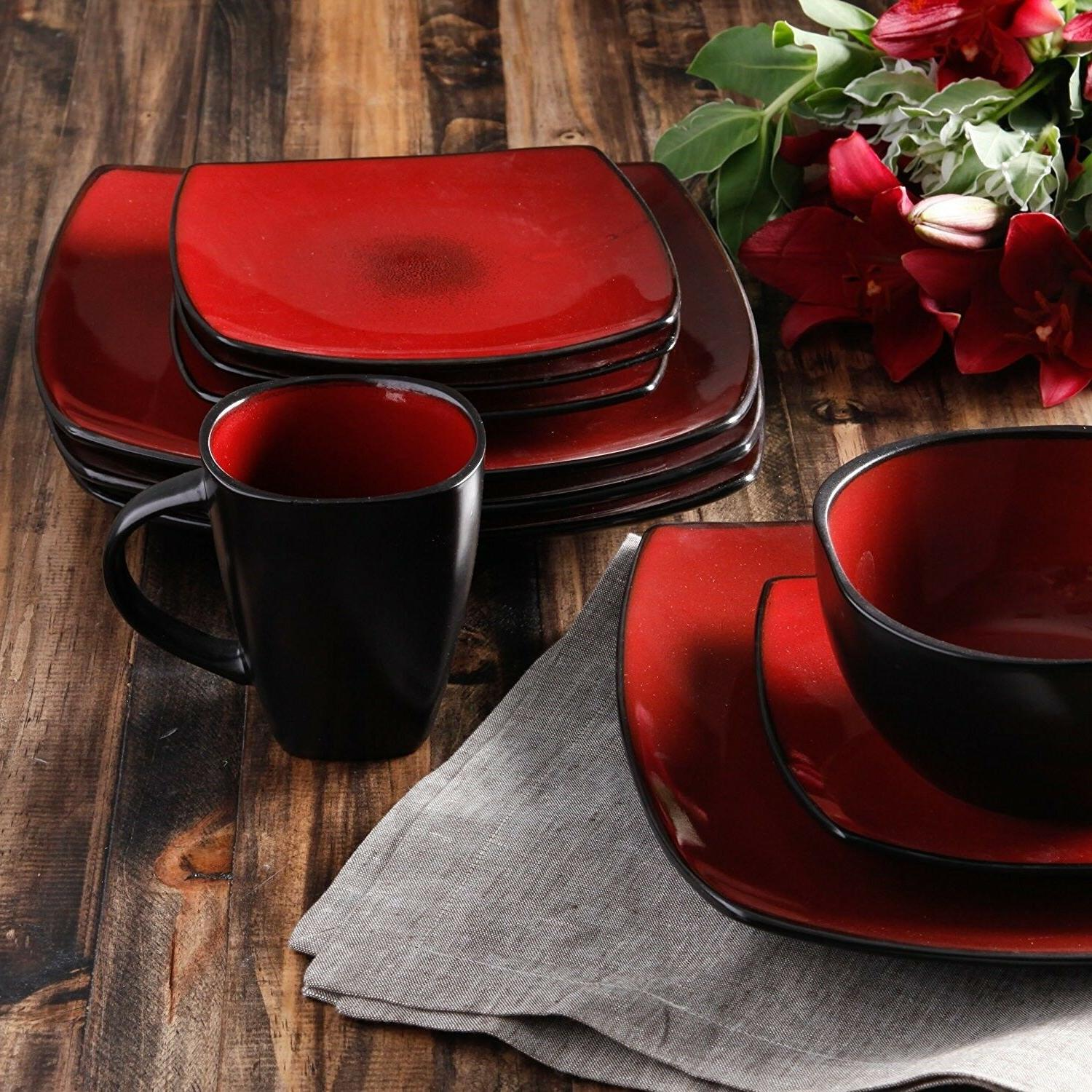 Soho 16-Piece Reactive Glaze Dinnerware