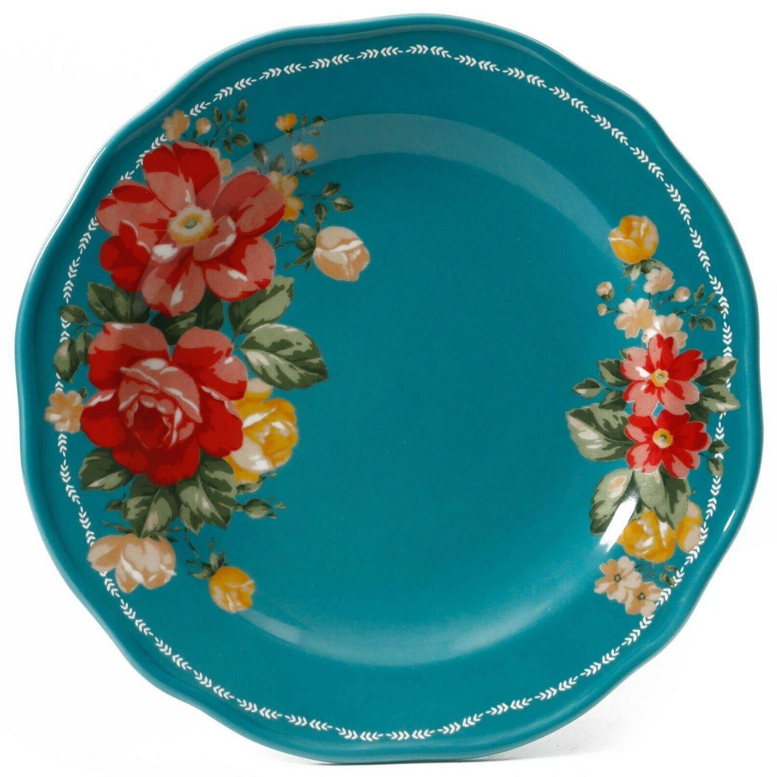 The Floral 12-Piece Teal