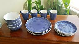 JCPenney Home Laurel 16-Piece Dinnerware Set Service For Fou