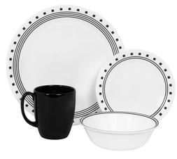 Corelle Livingware City Block 32 pc Dinnerware Set Service f