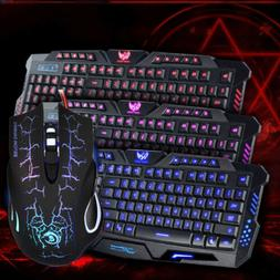 Multi-Colored Gaming  Backligh Keyboard and Mouse Set LED  C