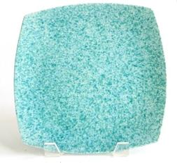 my place my space teal speckled splatterware