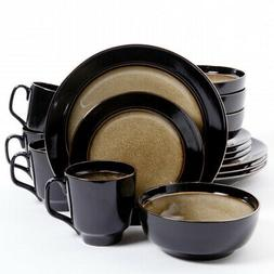 New Gibson Elite Bella Galleria 16 Piece Stoneware Dinnerwar