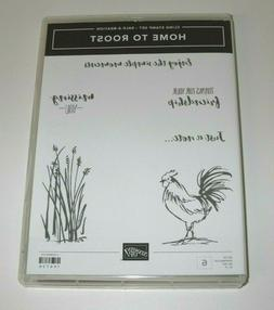 NEW Stampin' Up HOME TO ROOST Cling Stamp Set ~ Rooster Gras