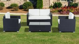 Patio Furniture Sets Clearance Wicker Sofa Outdoor Conversat