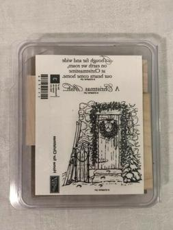 Retired Stampin Up HOME FOR CHRISTMAS Wreath Sleigh Door Hol