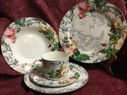 Rose Toile, American Atelier discontinued, Porcelain china,