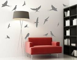 Set of Swallows Large Removable Wall Stickers High Quality B