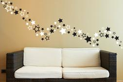 Up to 81 Star shape wall art stickers for Bedroom Bathroom p