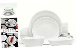 White Essential Chip Resistant Collection Dinnerware and Ser